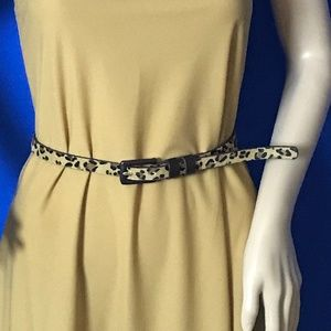 Accessories - Skinny Belt with faux Cheetah fur